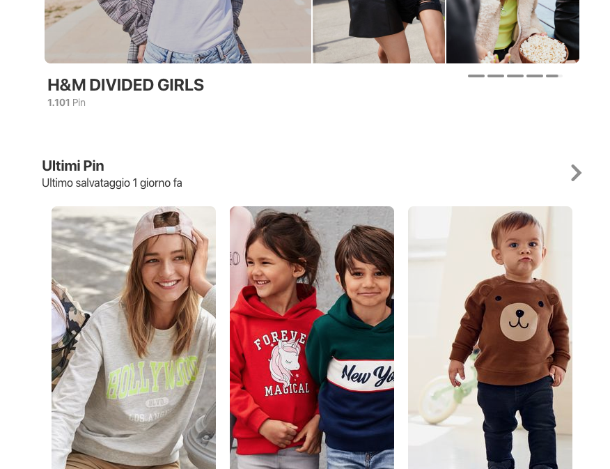 H&M, la catena utilizza Pinterest in maniera massiva